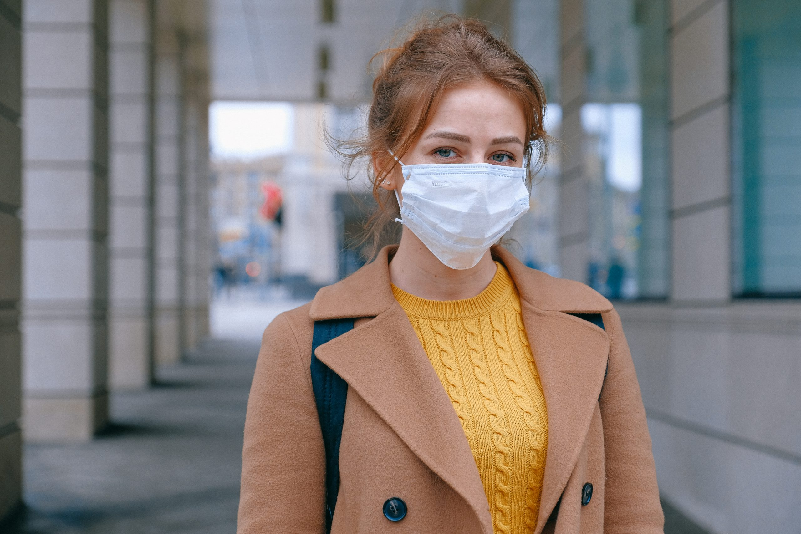 coronavirus anxiety, girl wearing mask
