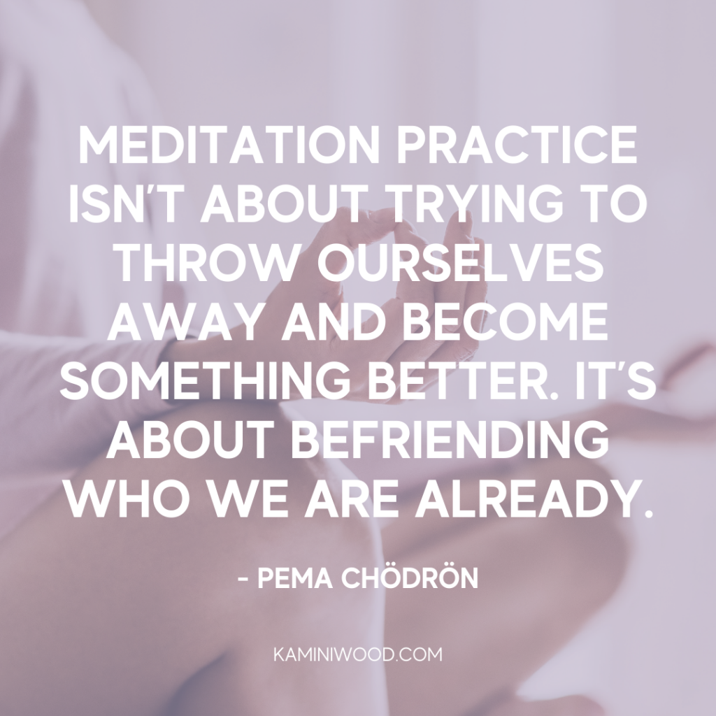 mindfulness and meditation quote