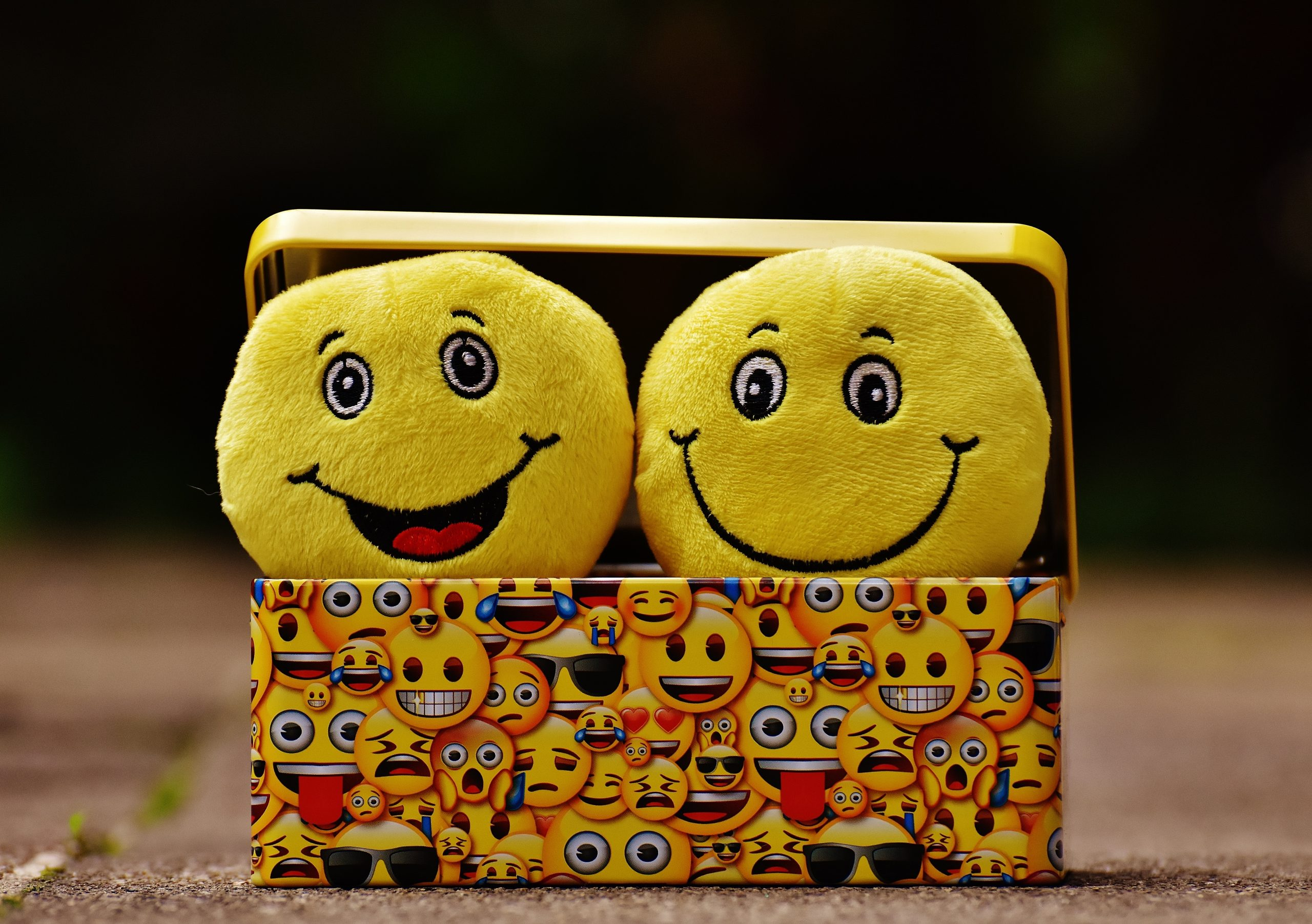 Emotions happy and healthy faces