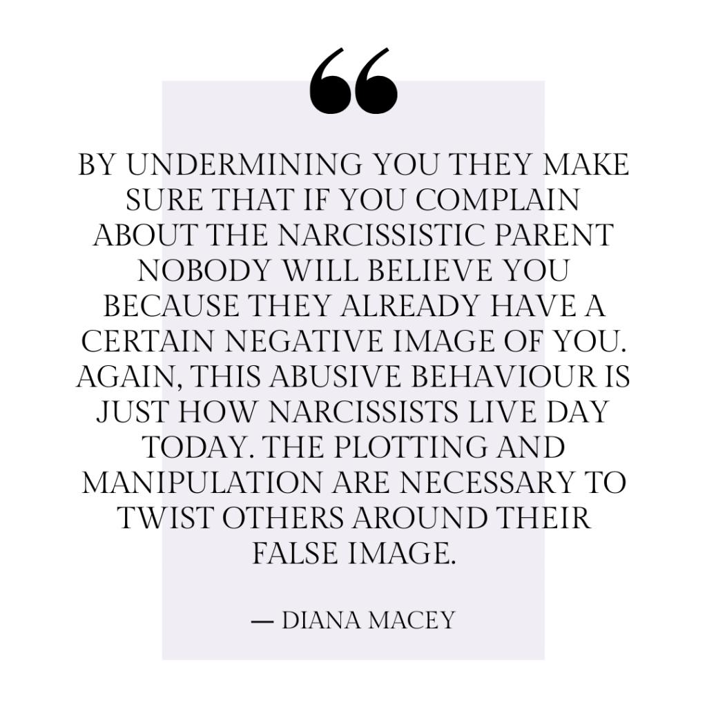 Narcissistic Parent behavioral quote