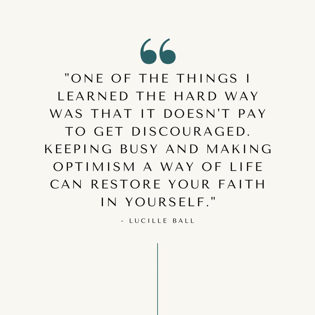 cultivate optimism quote