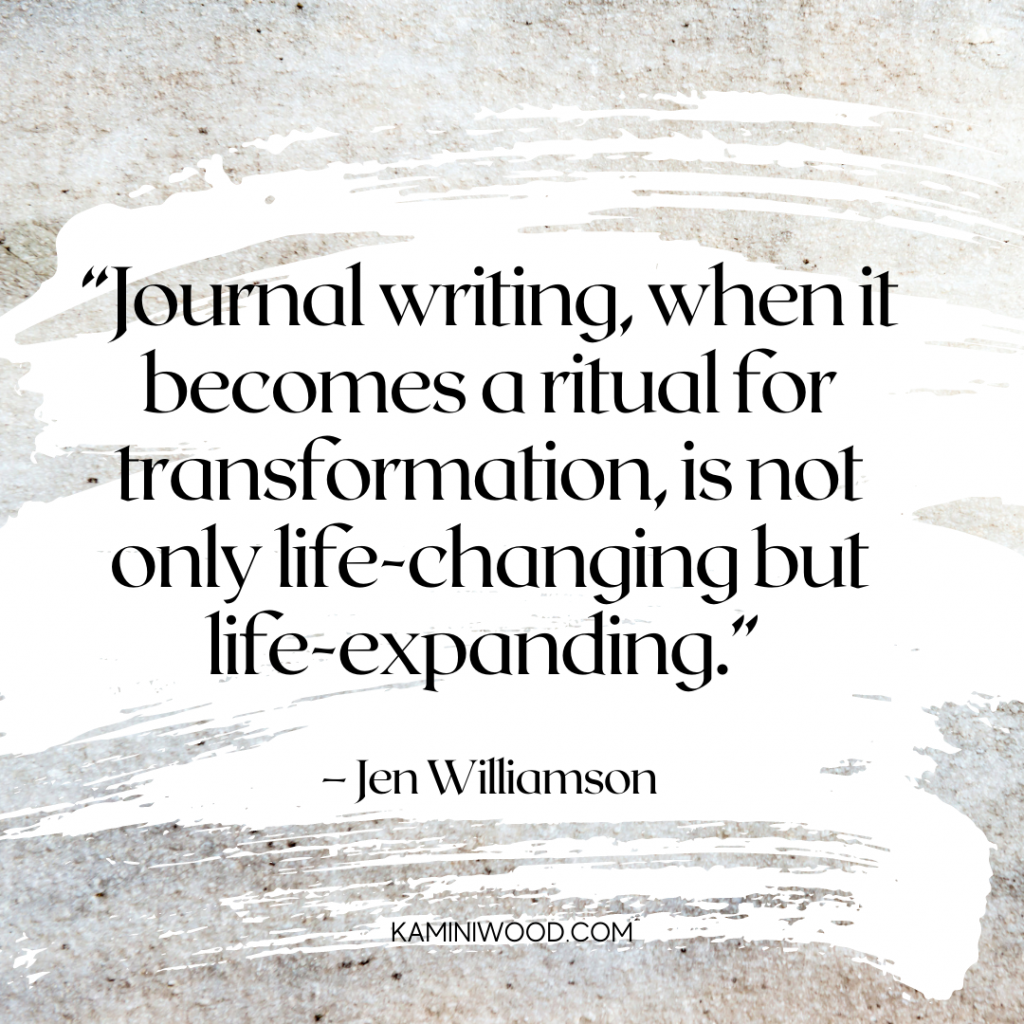 self discovery and journaling quote